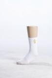 消防萊卡銅絲白襪