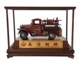古董鐵皮消防車 (含框)