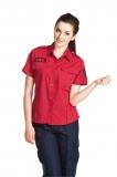 女版免燙襯衫 暗紅