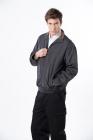 鐵灰休閒夾克 (內層鋪棉)