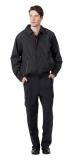 黑色休閒夾克 (內層鋪棉)