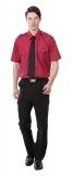 暗紅短袖襯衫 $450  暗紅長袖襯衫 $500