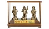 銅色消防寶寶三入 (含框)